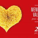 Menu St Valentin DEL ARTE