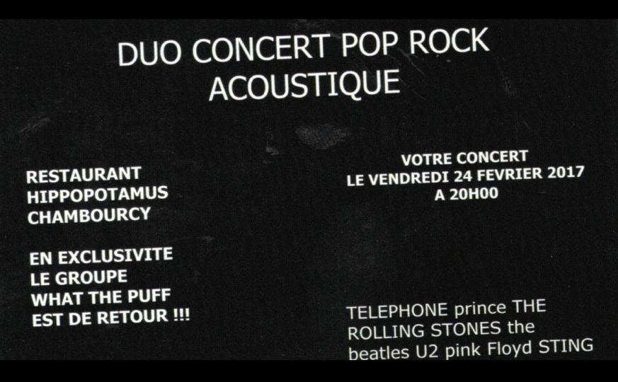 Concert Pop Rock Hippopotamus Chambourcy