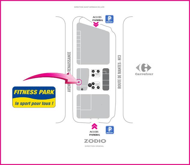 Accès Fitness Park Les Vergs de la Plaine