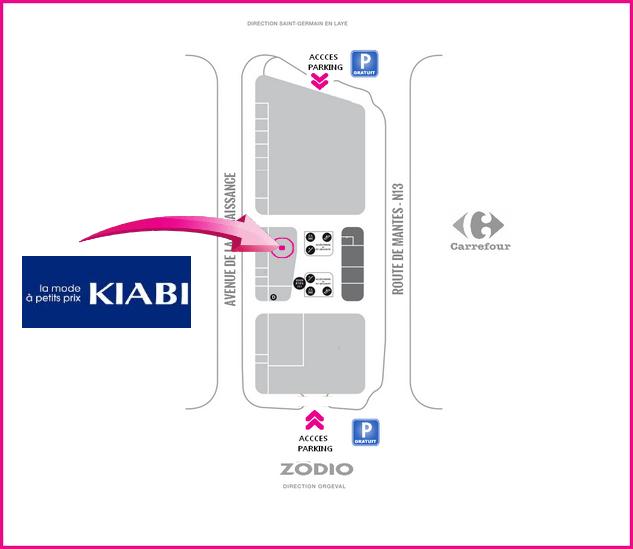 Plan accès Kiabi Les Vergers de la Plaine Chambourcy
